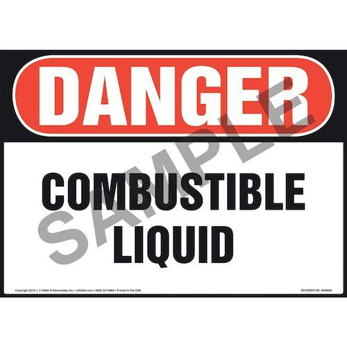 Danger: Combustible Liquid Sign - OSHA (010982)