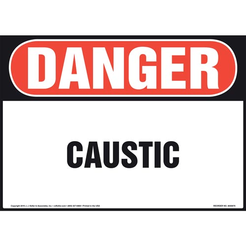Danger: Caustic Sign - OSHA (010986)