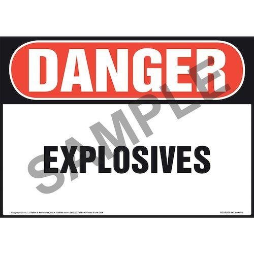 Danger: Explosives Sign - OSHA (010991)