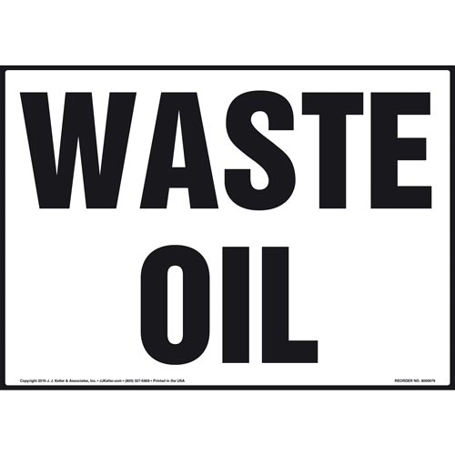 Waste Oil - Sign (010995)