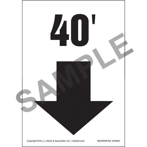 Down Arrow - Label (011003)