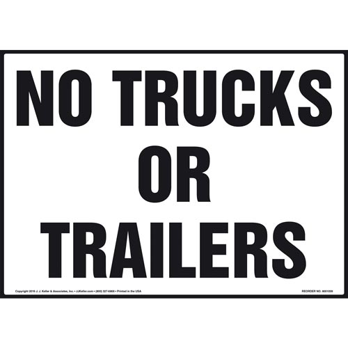 No Trucks or Trailers Sign (011047)