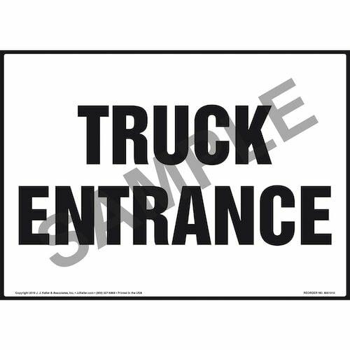 Truck Entrance Sign (011048)