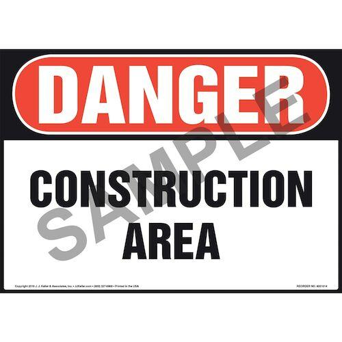 Danger: Construction Area - OSHA Sign (011052)