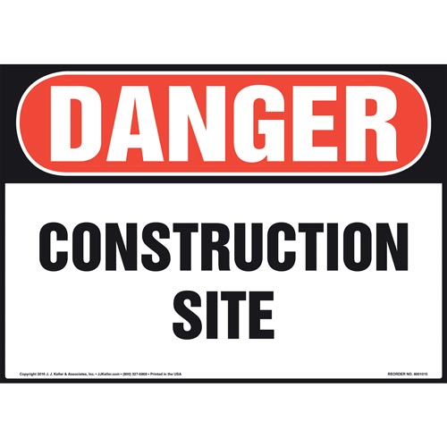 Danger: Construction Site Sign - OSHA (011053)