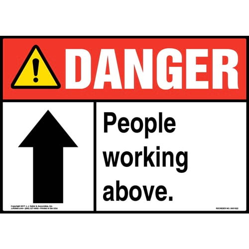 Danger: People Working Above Sign - ANSI (011060)