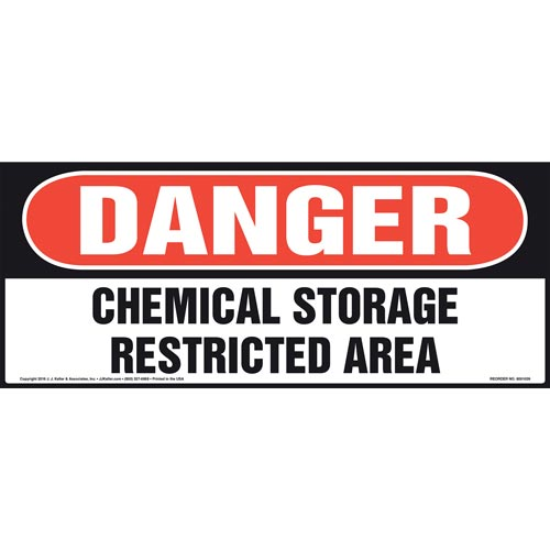 Danger: Chemical Storage, Restricted Area Sign - OSHA (011077)