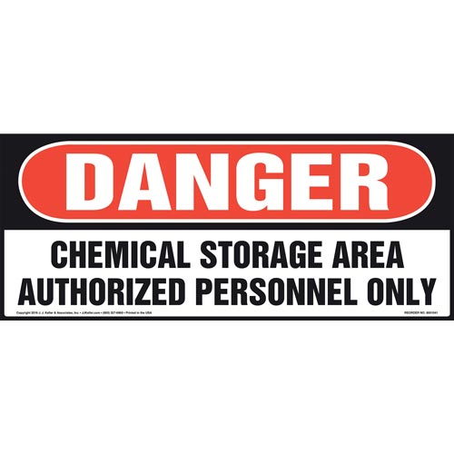 Danger: Chemical Storage Area, Authorized Personnel Only Sign - OSHA (011079)