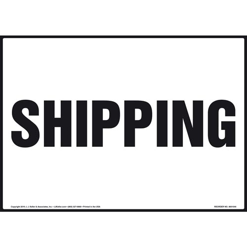 Shipping Sign (011082)