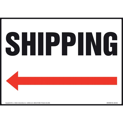 Shipping Sign - Left Arrow (011083)
