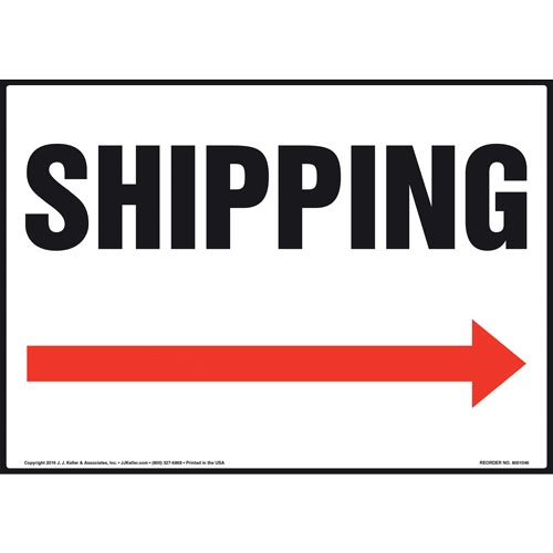 Shipping Sign - Right Arrow (011084)