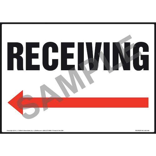 Receiving Sign - Left Arrow (011086)