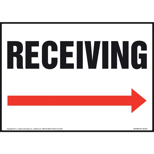 Receiving Sign - Right Arrow (011087)