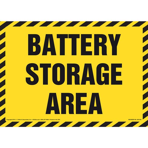 Battery Storage Area Sign (012088)