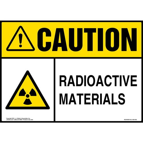 Caution: Radioactive Materials Sign - ANSI (012099)