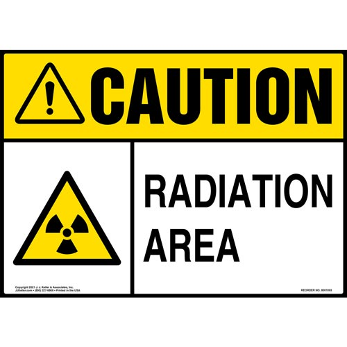 Caution: Radiation Sign - ANSI (012100)