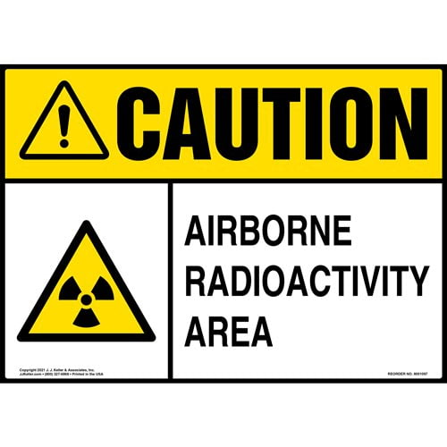 Caution: Airborne Radioactivity Area Sign - ANSI (012104)