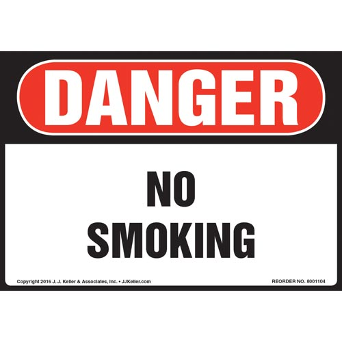 Danger: No Smoking - OSHA Sign (012111)
