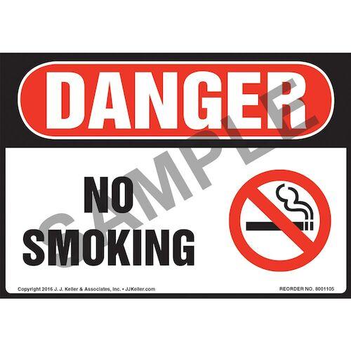 Danger: No Smoking - OSHA Sign (012112)