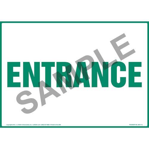 Entrance Sign - Green Text (012163)