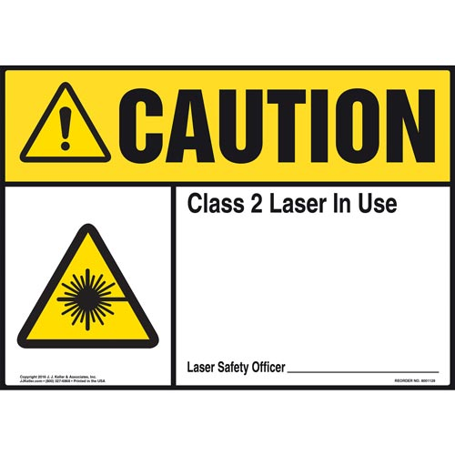 Caution: Laser In Use - ANSI Sign (012183)