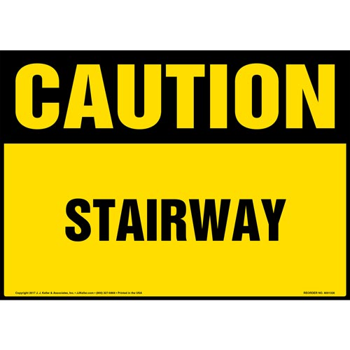 Caution: Stairway - OSHA Sign (012435)