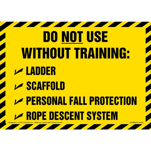 Do Not Use Without Training - Sign (012453)