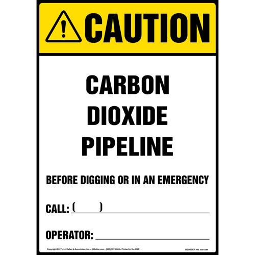 Caution: Carbon Dioxide Pipeline Sign - ANSI (012459)