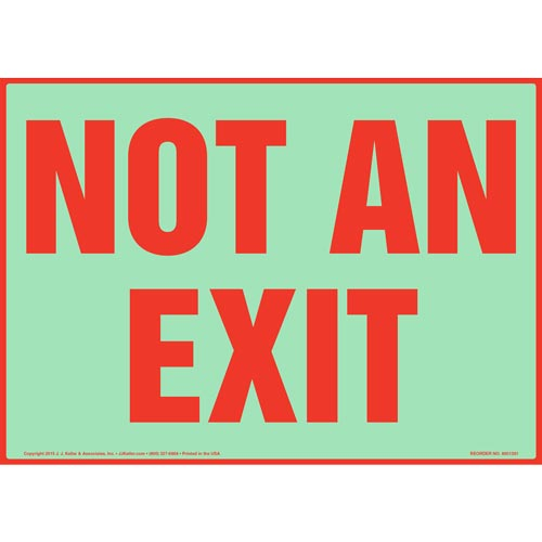 Not An Exit Sign - Glow In The Dark Background (012548)