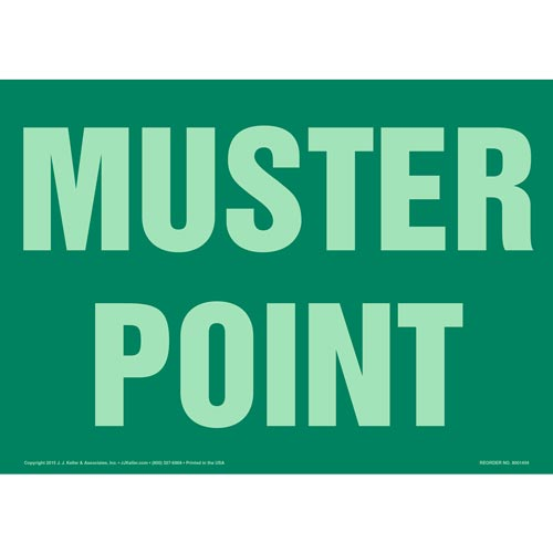 Muster Point Sign - Glow In The Dark (012571)
