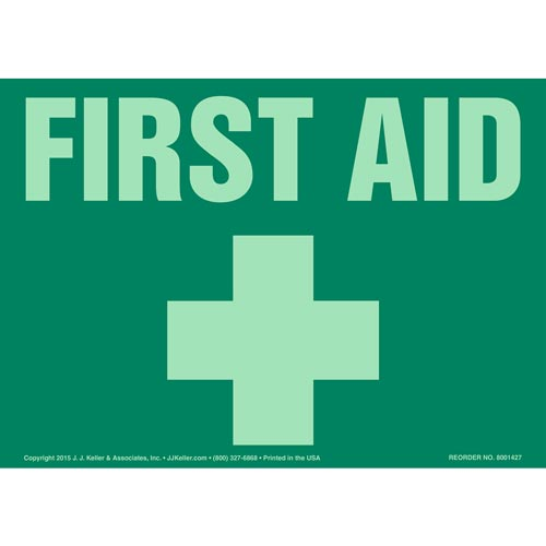 First Aid Sign- Glow In The Dark (012594)