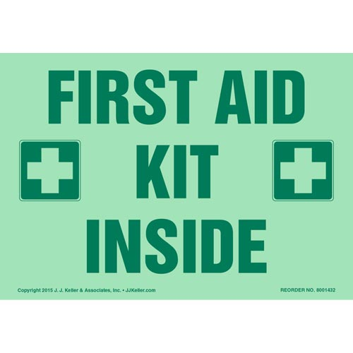 First Aid Kit Inside Label - Glow In The Dark (012598)