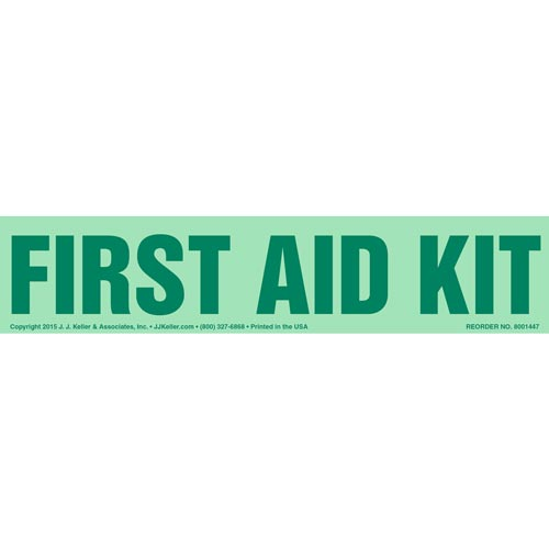 First Aid Kit Label - Glow In The Dark (012611)