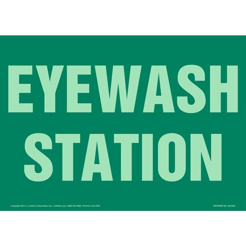 Eyewash Station Sign - Glow In The Dark (012620)