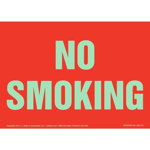 No Smoking Sign - Red, Glow In The Dark (012634)