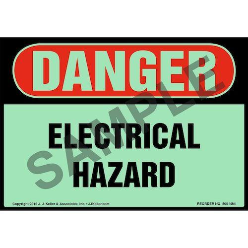 Danger: Electrical Hazard - Glow In The Dark (012648)