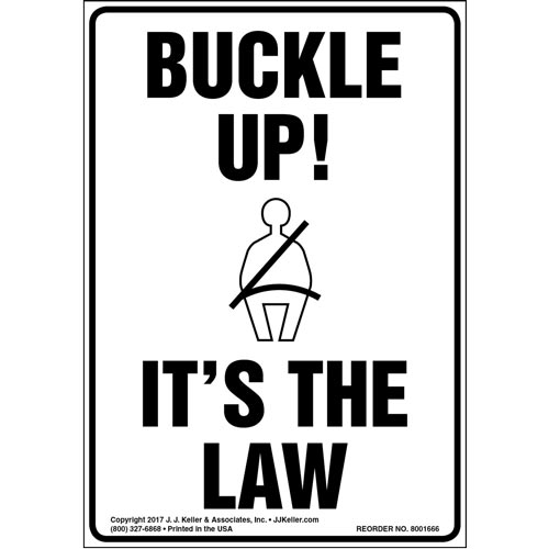 Buckle Up! It's The Law Label (012961)