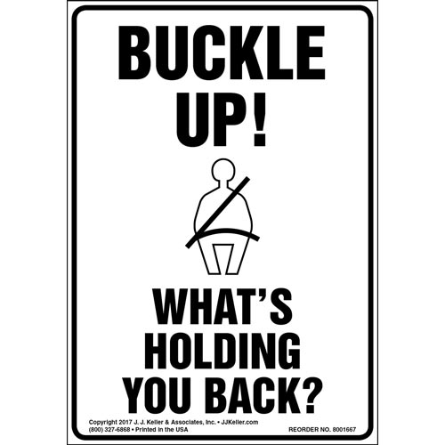 Buckle Up! What's Holding You Back? - Label with Graphic (012962)