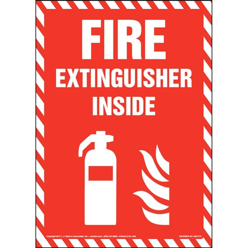 Fire Extinguisher Inside - Sign with Icon (013308)