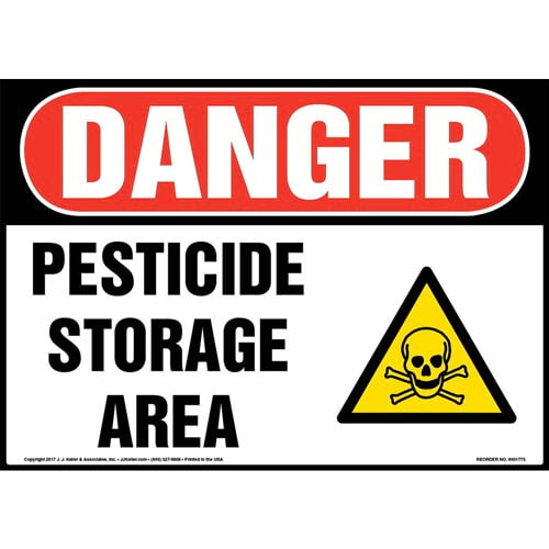 Danger: Pesticide Storage Area Sign with Icon - OSHA (013309)