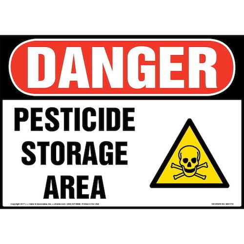 Danger: Pesticide Storage Area Sign with Icon - OSHA (013309)