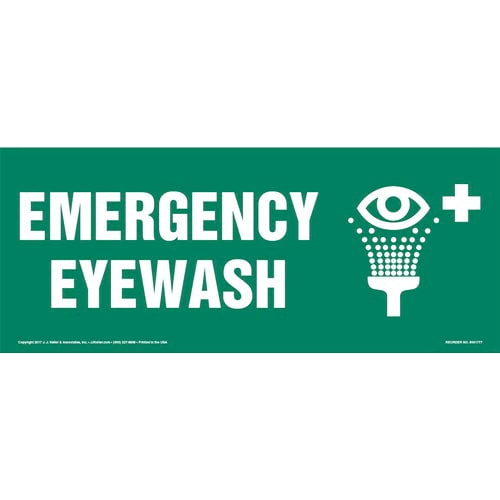 Emergency Eyewash Sign with Icon (013313)