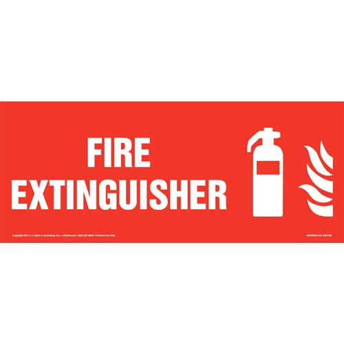 Fire Extinguisher Sign with Icon (013324)