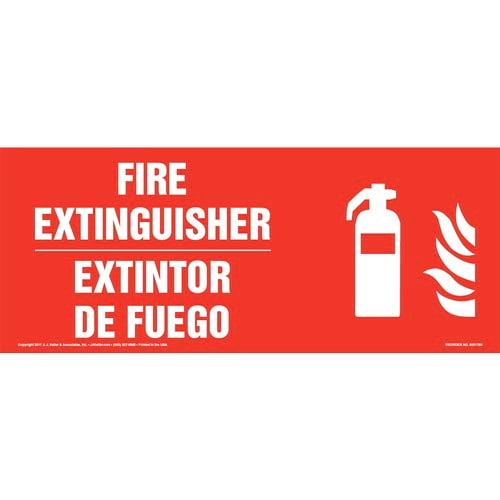 Fire Extinguisher - Bilingual Sign with Icon (013325)