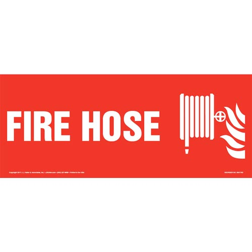 Fire Hose Sign with Icon (013326)