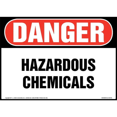 Danger: Hazardous Chemicals Sign - OSHA (013370)