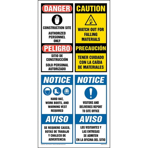Site Board™ Construction Sign - OSHA, Bilingual (013432)