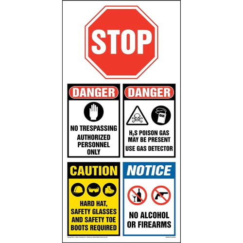 OSHA Site Board™ / Oil & Gas Sign - English (013435)