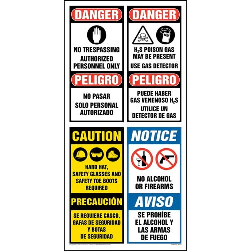 OSHA Site Board™ / Oil & Gas Sign - Spanish (013436)