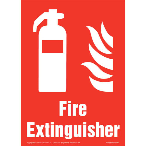 Fire Extinguisher Sign with Icon - Portrait (013571)